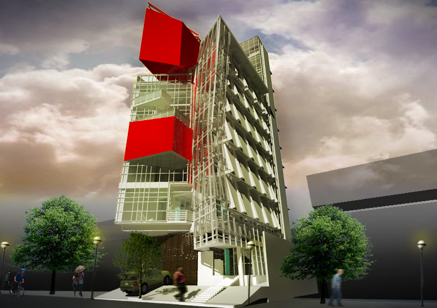 Architectural design development for the Eight Arms HQ in Reposo Street, Makati City.